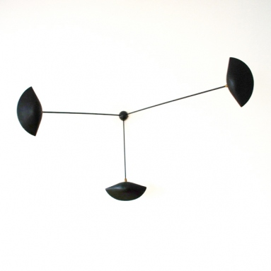 Serge Mouille Wall lamp with three fixed arms 1955