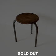 Jean Prouvé/Stacking stool : type three legs 1930s
